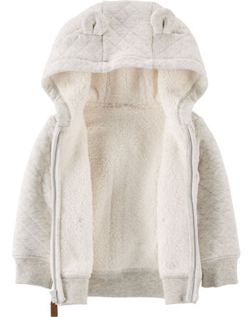 Hooded Sherpa-Lined Jacket