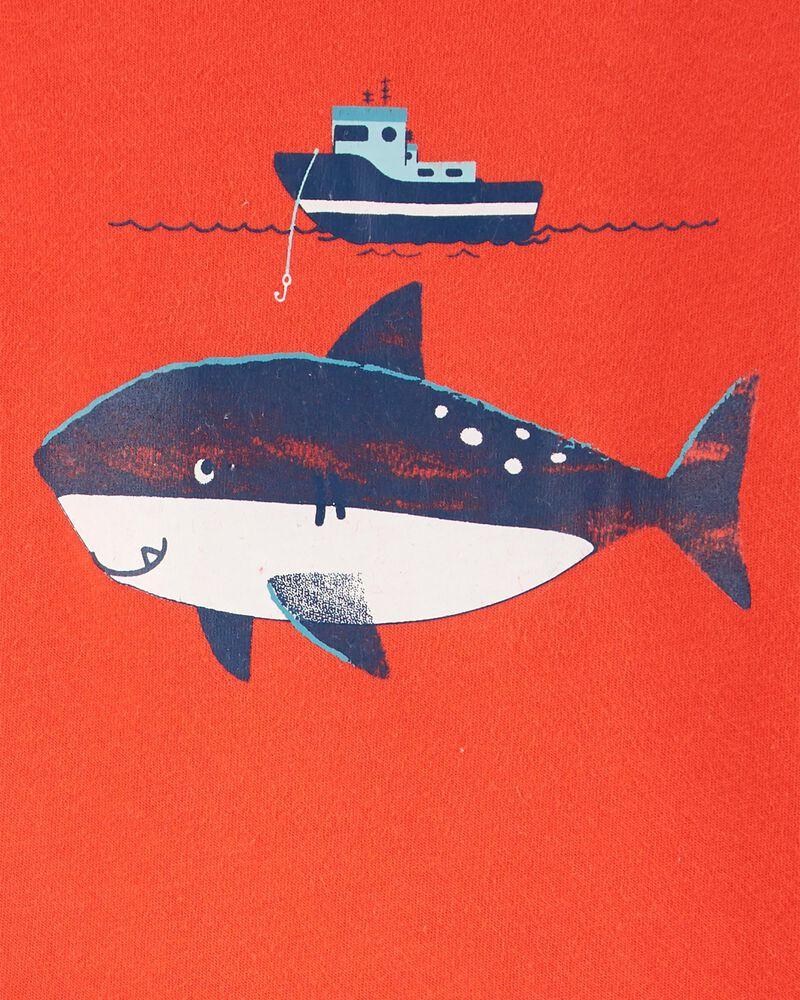 Ensemble 3 pièces short à motif de baleine, , hi-res