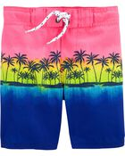 Palm Tree Swim Trunks, , hi-res