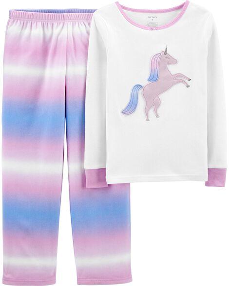 2-Piece Fleece & 100% Snug Fit Cotton PJs