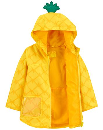 Pineapple Print Rain Jacket
