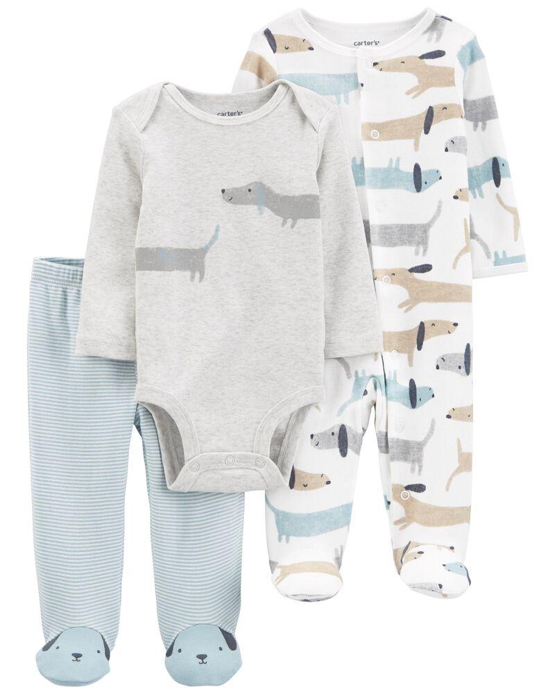 3-Piece Dog Bodysuit & Sleep & Play Set, , hi-res