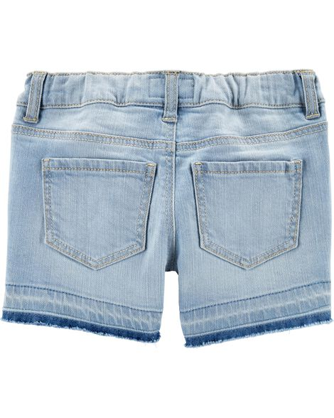 Short en denim extensible