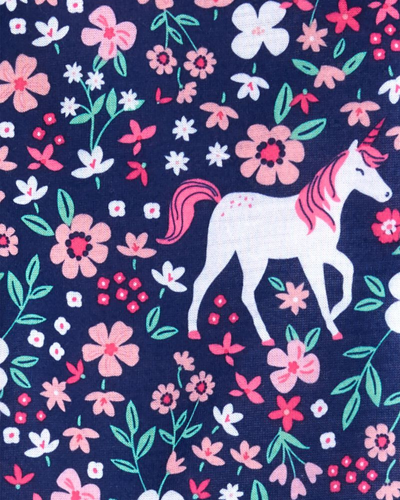 1-Piece Unicorn Loose Fit Footie PJs, , hi-res