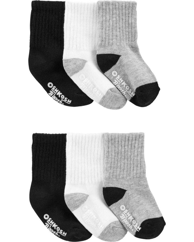 6 paires de chaussettes mi-mollet de base, , hi-res