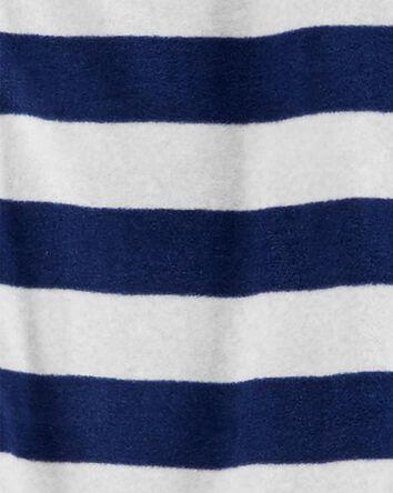 1-Piece Rugby Stripe Fleece Footles...