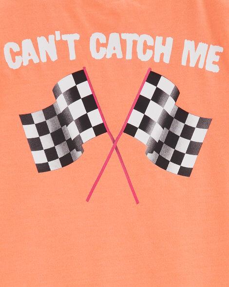 T-shirt en jersey chiné voiture de course