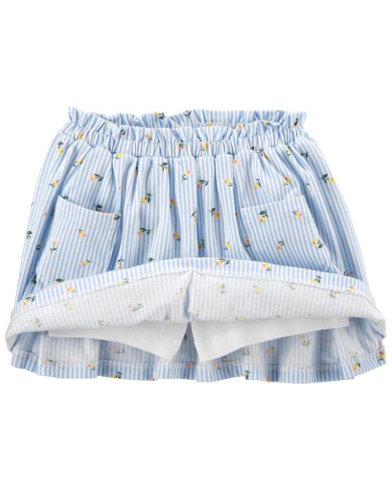 Ensemble 2 pièces t-shirt en jersey et jupe-culotte à lapin, , hi-res