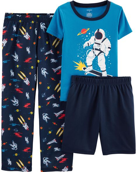 3-Piece Space Poly PJs