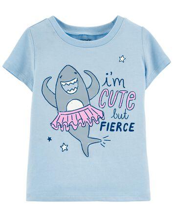 Cute But Fierce Shark Jersey Tee