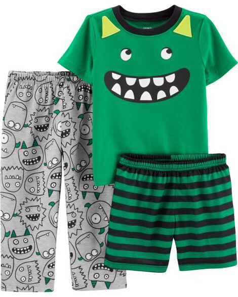 3-Piece Monster Poly PJs