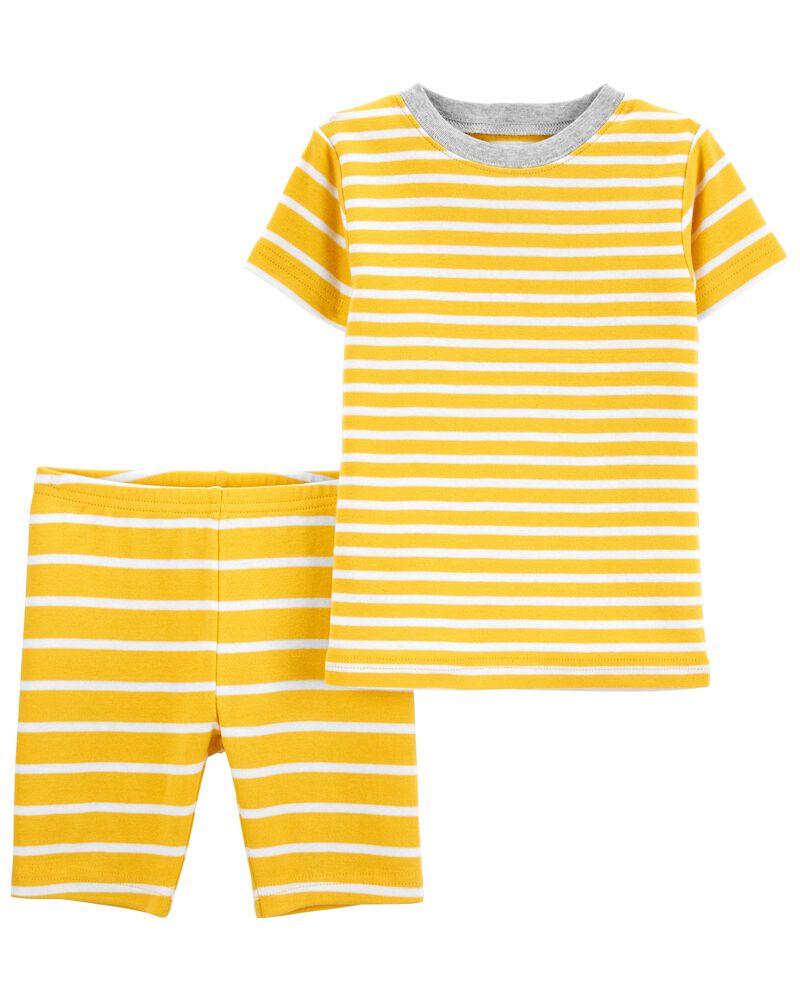 2-Piece Striped 100% Snug Fit Cotton PJs, , hi-res