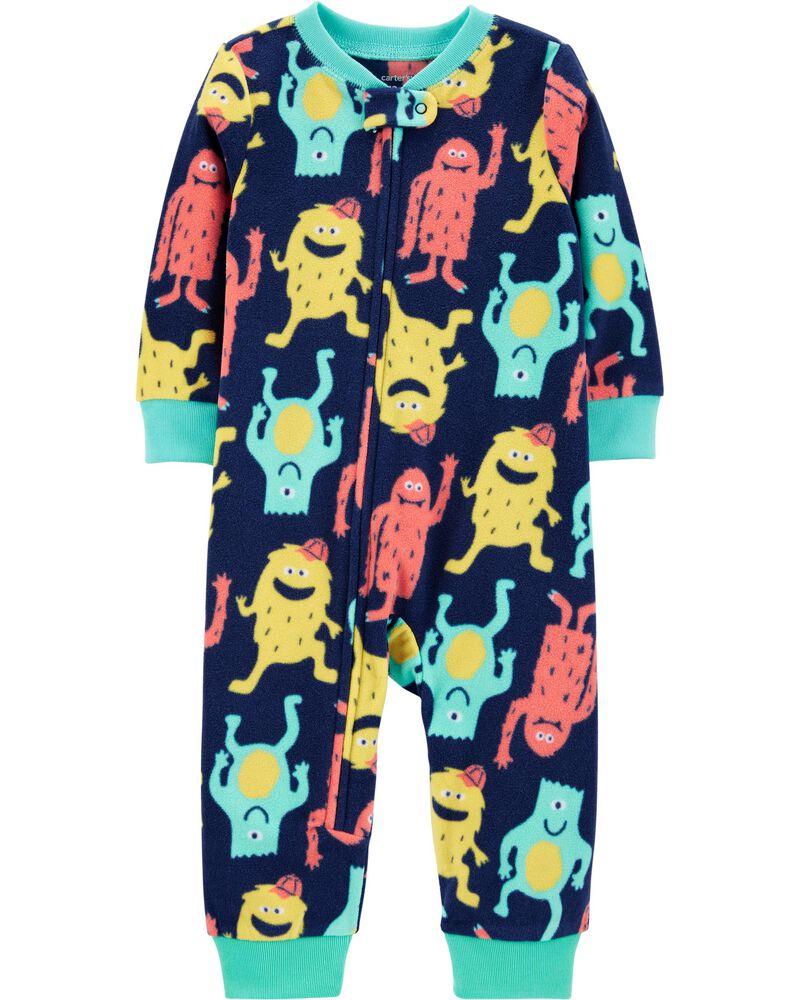 1-Piece Monster Fleece Footless PJs, , hi-res