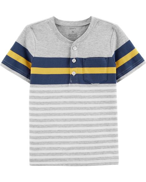 Striped Jersey Henley