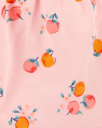 Peach Cotton Romper