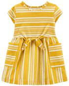 Striped Pocket Dress, , hi-res
