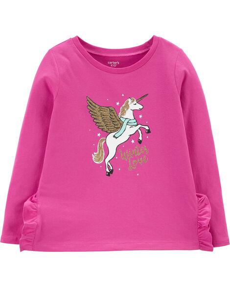 Glitter Pegasus Jersey Top