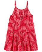 Tiered Bandana Dress, , hi-res