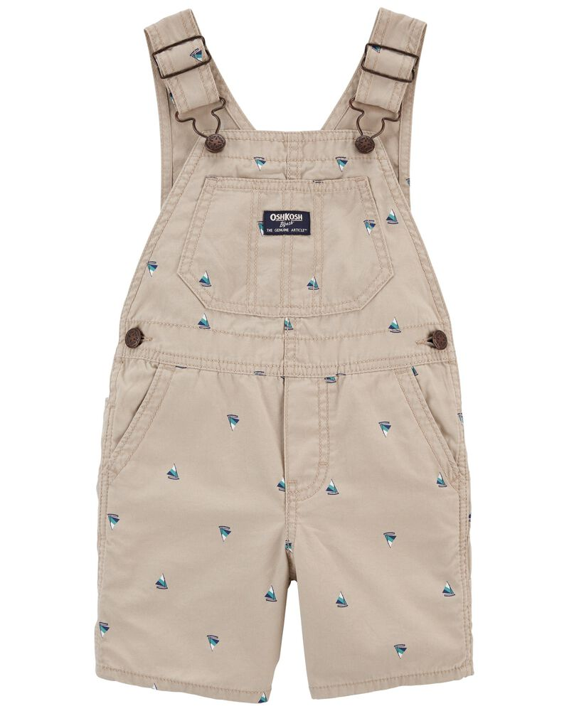 Sailboat Print Canvas Shortalls, , hi-res