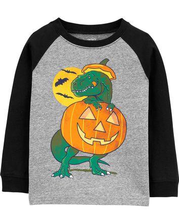 Halloween Dinosaur Raglan Jersey Te...
