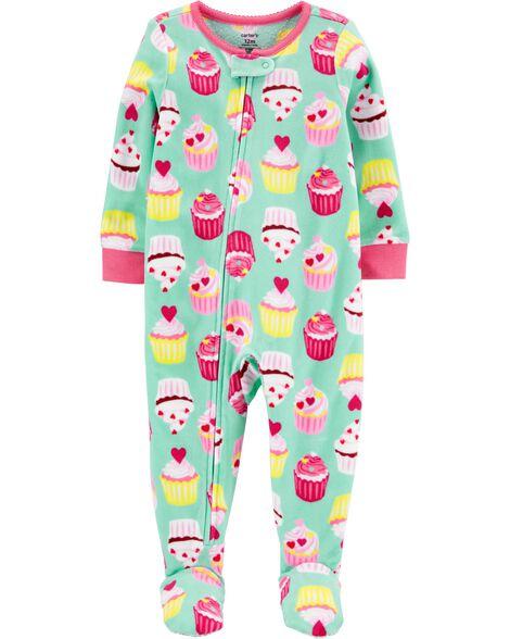 Pyjama 1 pièce en molleton à pieds Petit gâteau