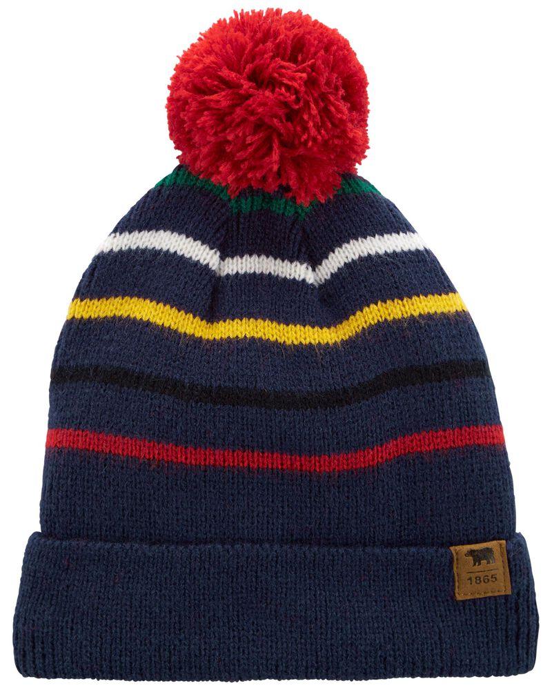 Striped Knit Hat, , hi-res