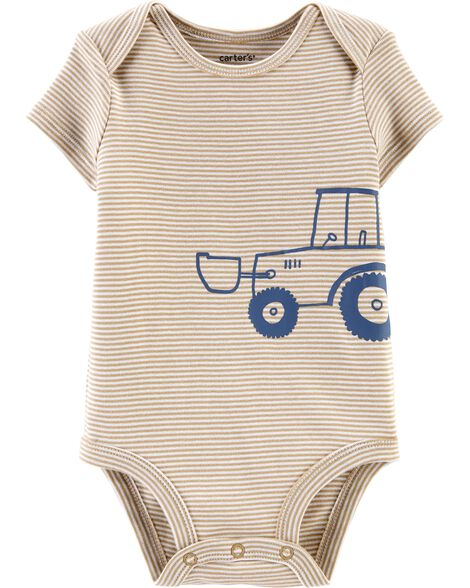Striped Tractor Collectible Bodysuit