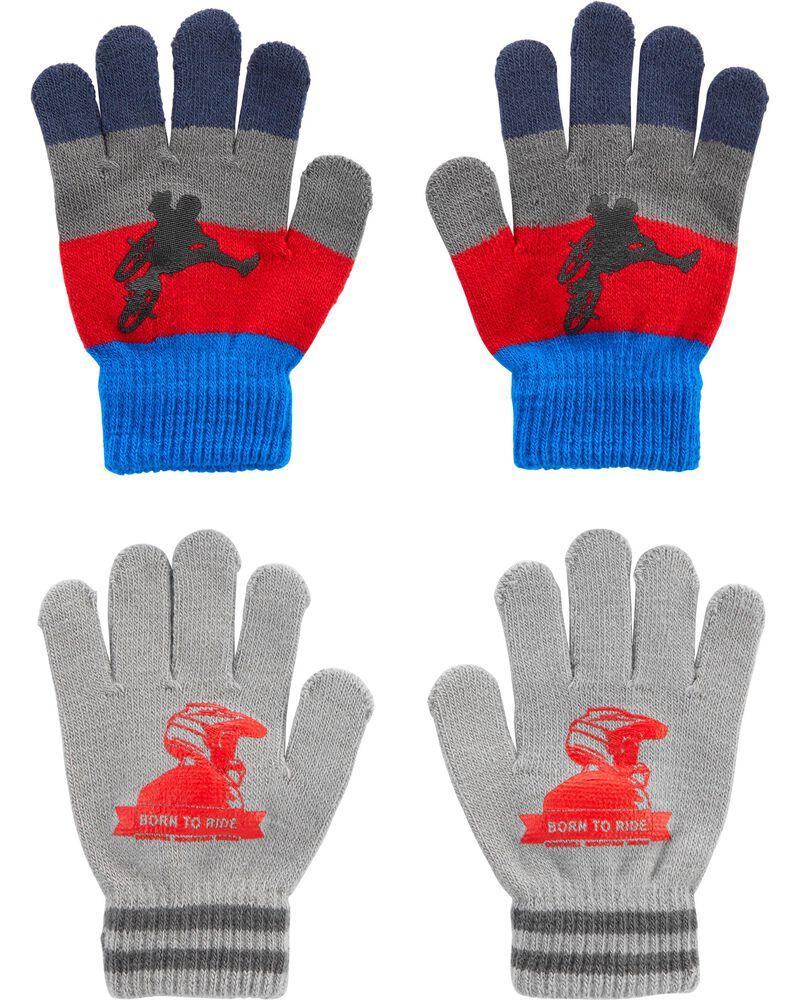 2 paires de gants BMX à paume agrippantes Kombi, , hi-res