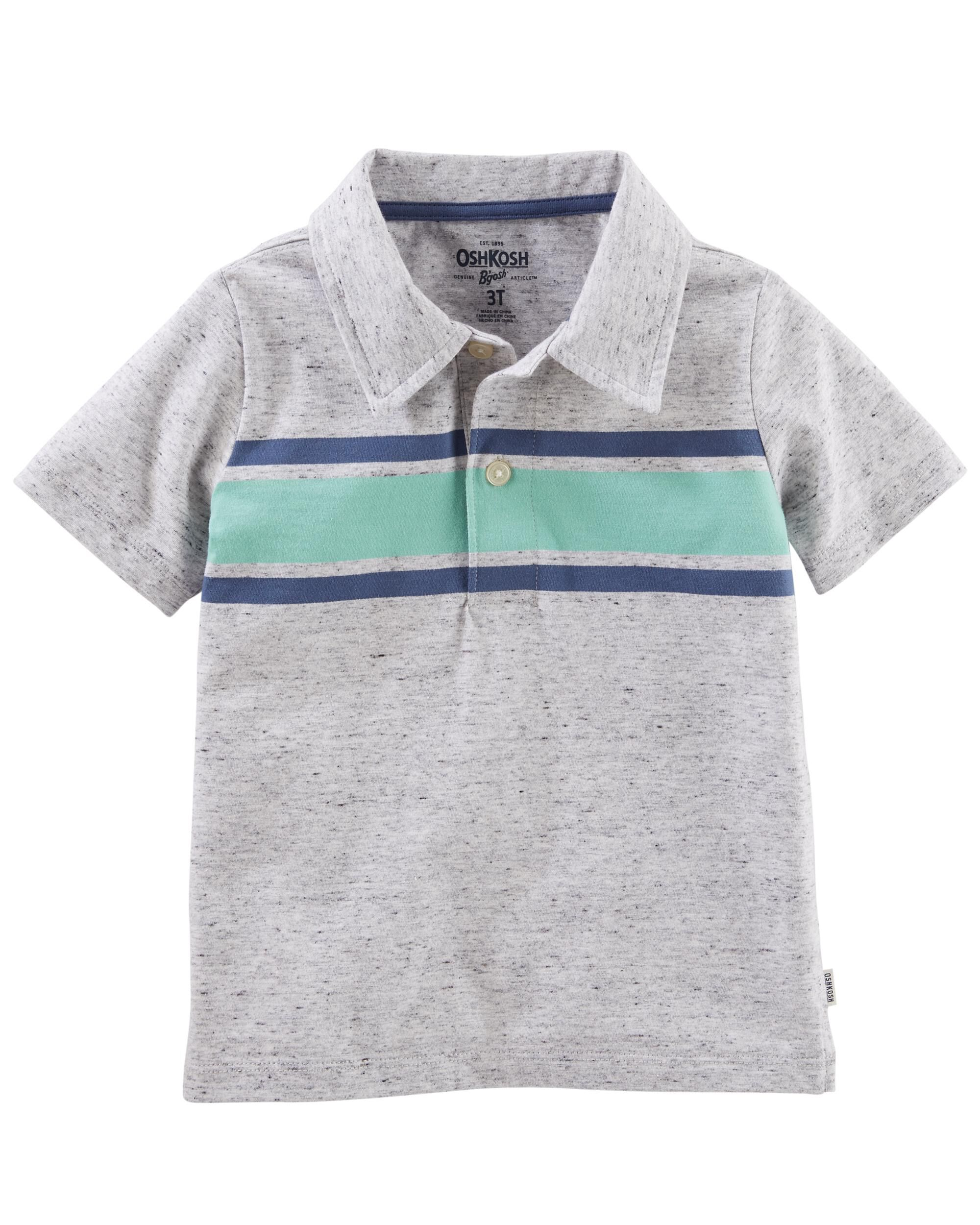 OshKosh BGosh Boys Toddler Striped Jersey Polo