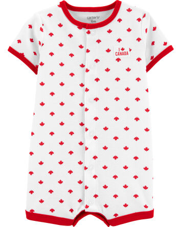 Canada Day Maple Leaf Romper
