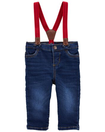 Pantalon en tricot de denim à brete...
