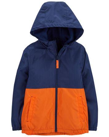 Fleece-Lined Colourblock Jacket