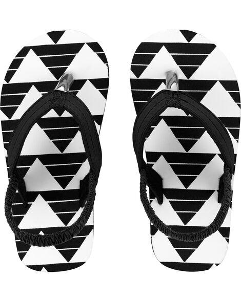 Geometric Print Flip Flops