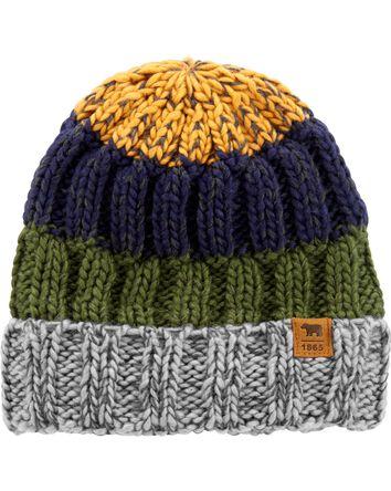 Bonnet tricoté rayé