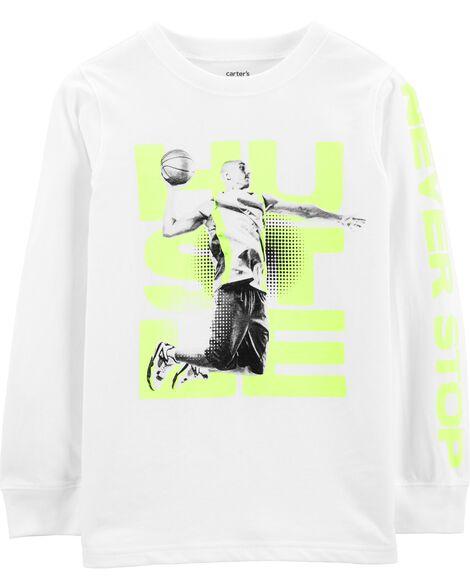 Hustle Basketball Graphic Tee