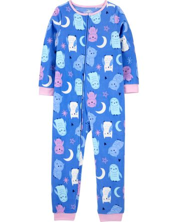 1-Piece Owl Fleece Footless PJs