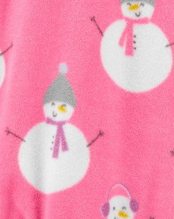 1-Piece Snowman Fleece Footie PJs