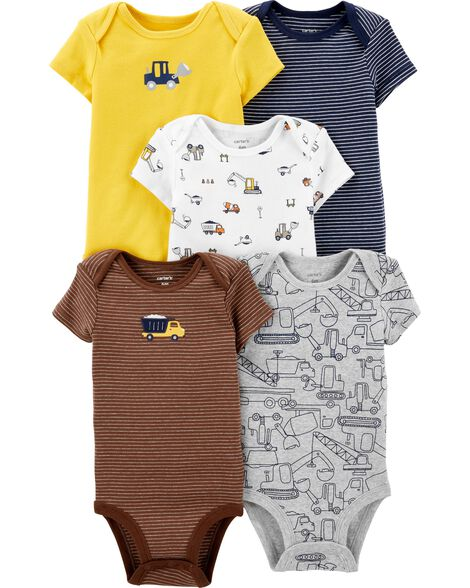 5-Pack Construction Original Bodysuits