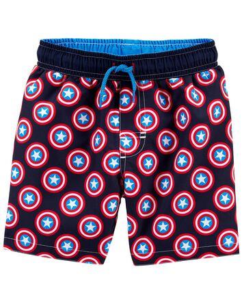 Captain America Swim Trunks
