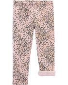 Leopard Cozy Fleece-Lined Leggings, , hi-res