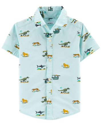 Animal Button-Front Shirt