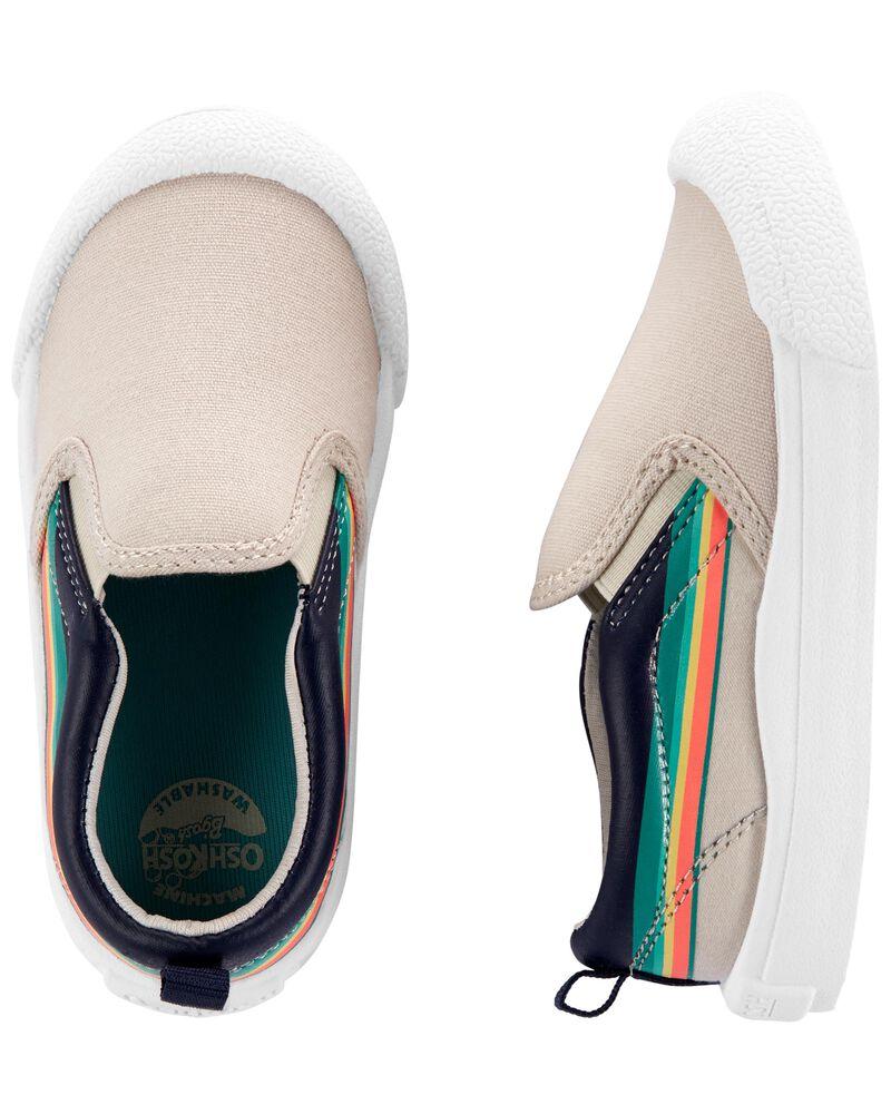 Chaussures à enfiler rayées rétro, , hi-res