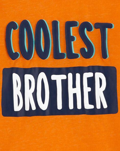 T-shirt chiné de style superposé Coolest Brother