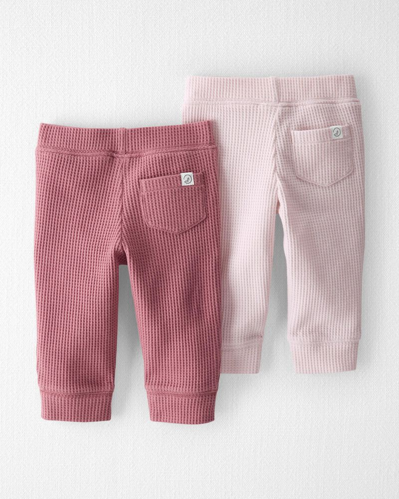 Emballage de 2 pantalons en coton isotherme certifié biologique, , hi-res