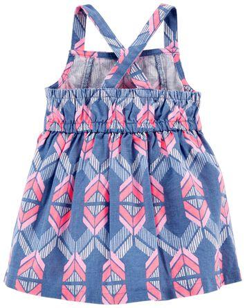 Aztec Linen Dress