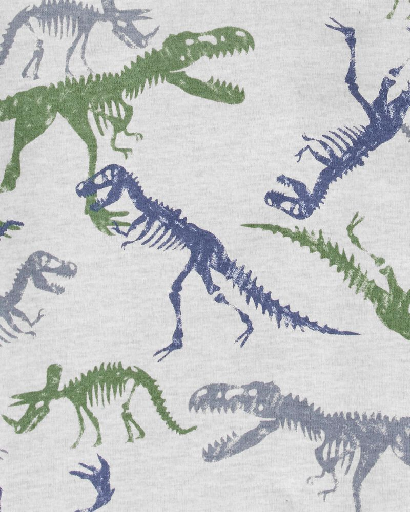 4-Piece Dinosaur 100% Snug Fit Cotton PJs, , hi-res