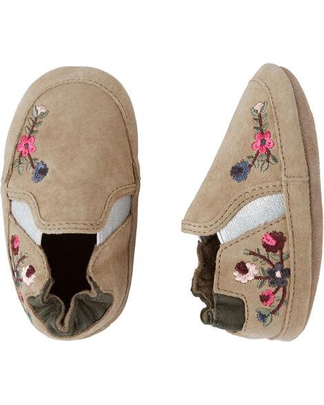 Chaussures souples fleuries Aubrey