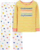 2-Piece Daydream 100% Snug Fit Cotton & Fleece PJs, , hi-res