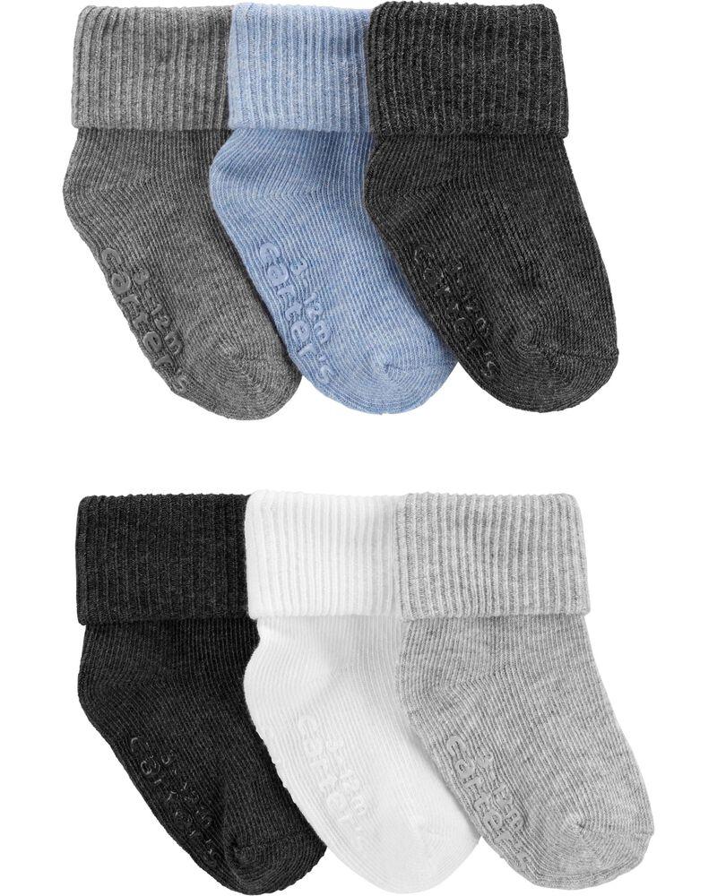 6 paires de chaussettes à revers roulé, , hi-res
