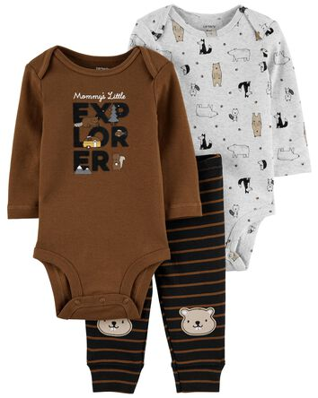 3-Piece Bear Outfit Set